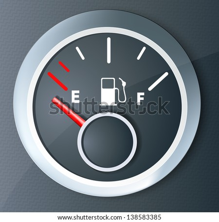 Fuel indicator - stock vector