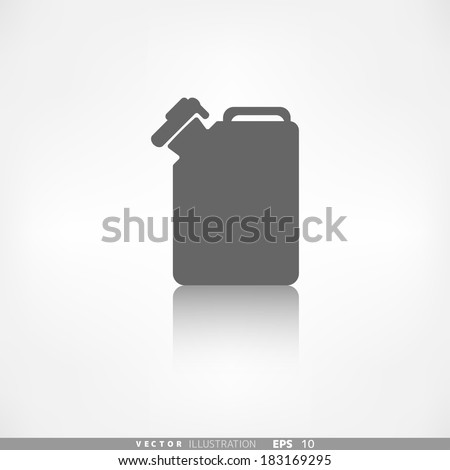 Fuel jerrycan icon - stock vector