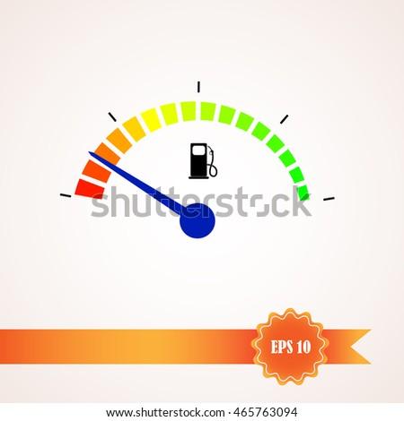 Fuel Level Sensor Tank Vector Stock Vector 465763094 - Shutterstock
