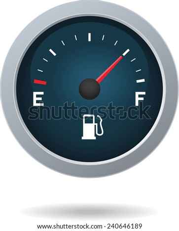 Fuel Meter unit isolated on white background. Vector image.