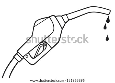 fuel pump hose vector  - stock vector