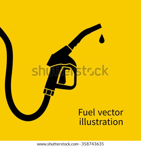 Fuel pump. Petrol station sign. Gas station sign. Gasoline pump nozzle. Fuel background. Vector illustration. Gasoline pump with drop. Fuel pump icon. - stock vector