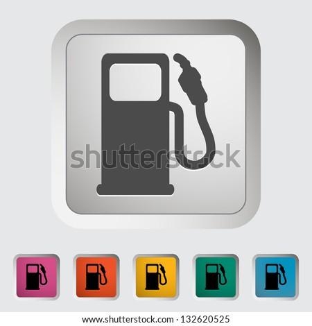Fuel. Single icon. Vector illustration. - stock vector