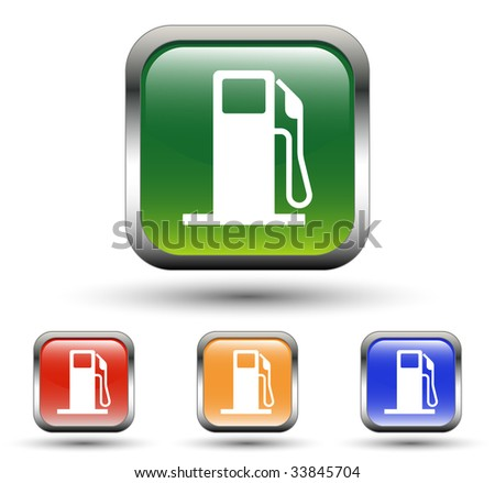 Fuel Station Icons - stock vector