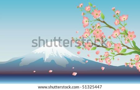 Fuji - stock vector