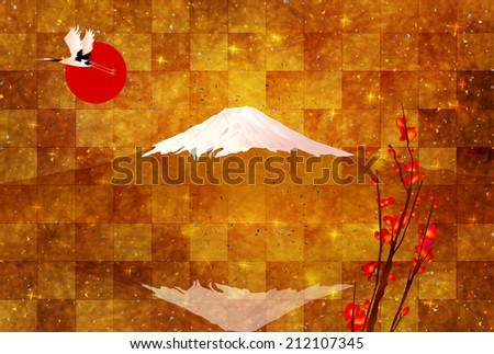 Fuji greeting cards background
