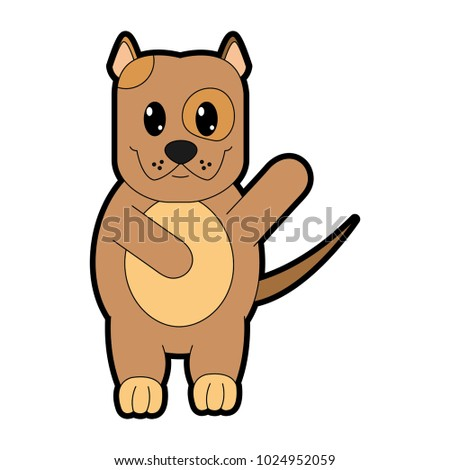 Beautiful Bear Brown Adorable Dog - stock-vector-full-color-adorable-and-cute-dog-animal-with-hand-up-1024952059  Snapshot_7717100  .jpg