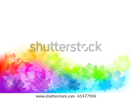 full color background of autumn - stock vector