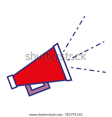 full color megaphone hone to speaker loud message