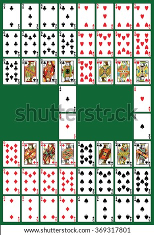 Full deck, all in one set, in th vector - stock vector