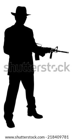 M4 Carbine Silhouette