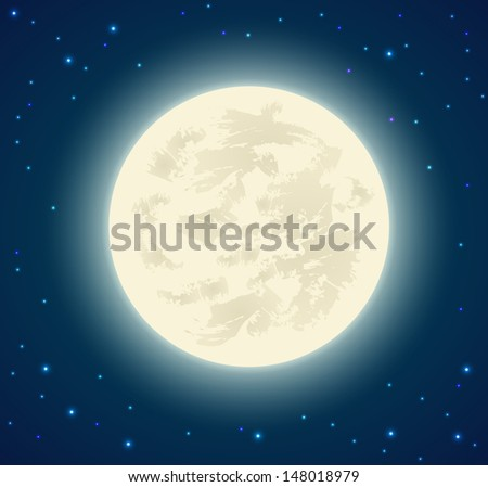 Full moon background - vector illustration. - stock vector