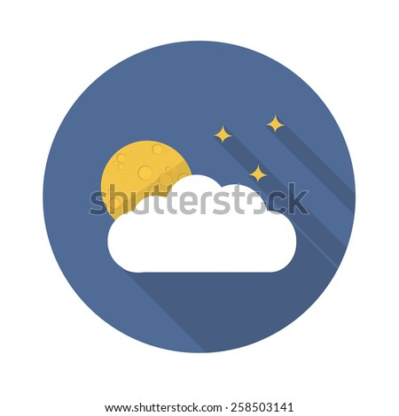 full moon flat icon. vector illustration - stock vector