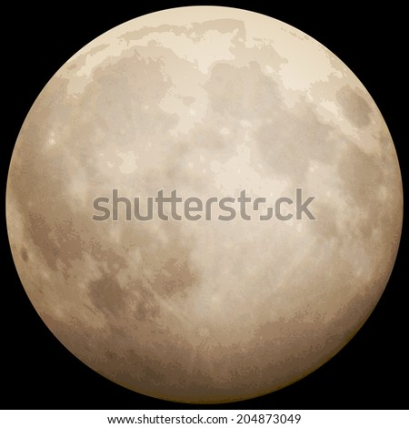 Full Moon, taken on 13 July 2014. EPS 10 vector file included - stock vector