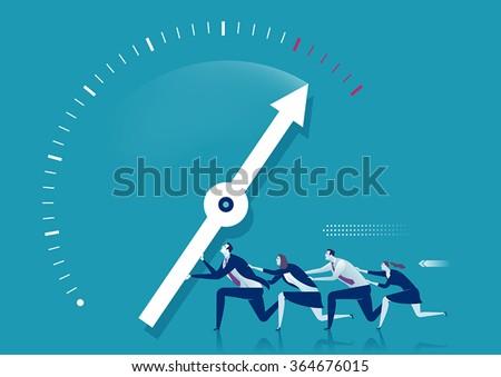 Full Power.  Team concept.  - stock vector