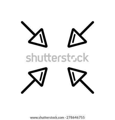 Full Screen Icon Vector Full Screen Arrows Symbol Icon