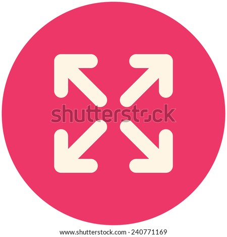 Full Screen Icon Vector Full Screen Modern Flat Icon
