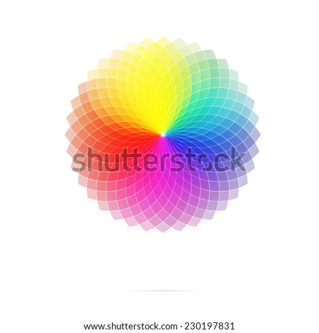full spectrum spirograph - stock vector