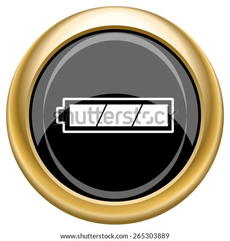 Fully charged battery icon. Internet button on white  background. EPS10 Vector.