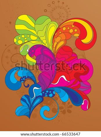 Fully ediatable hand drawn vector illustration. - stock vector