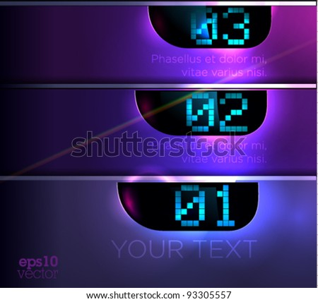 Fully editable luxury modern design / Layout / Design template for website or graphic design.EPS10. Horizontal display - stock vector