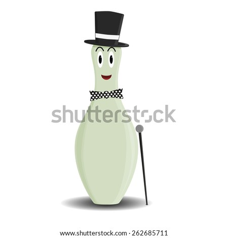 Fully vector skittle male character for variety use (e.g. male WC sign) - stock vector