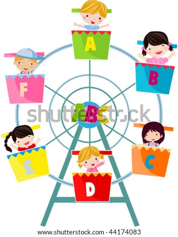 fun abc - stock vector