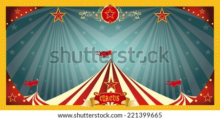 fun circus banner. A fun circus banner for an invitation - stock vector
