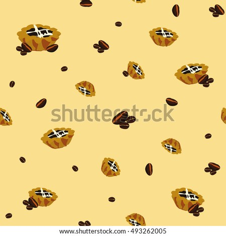 Fun coffee seamless background pattern
