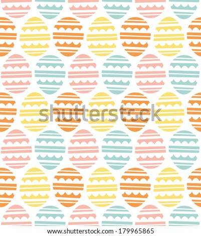 Fun Graphic Easter Egg Pattern - stock vector