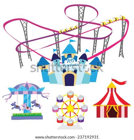 Fun park - stock vector