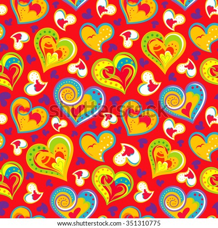 Gift wrapping paper stock images royalty free images vectors fun seamless vintage love heart background in pretty colors great for baby announcement valentines negle