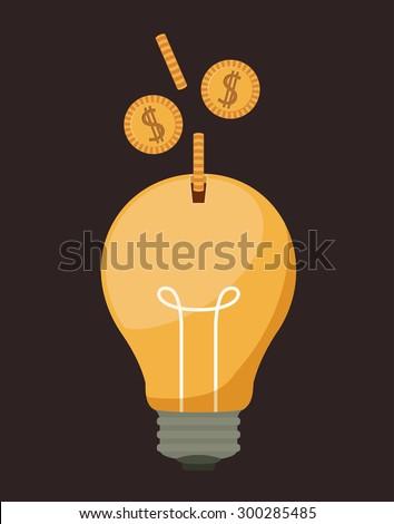 Funding digital design, vector illustration eps 10 - stock vector