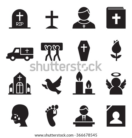 Funeral, Burial icon  - stock vector