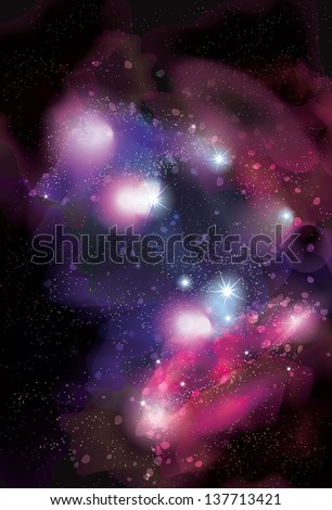 Funky abstract space nebula background - stock vector