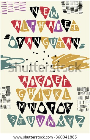 Funky Alphabet for your design.  - stock vector