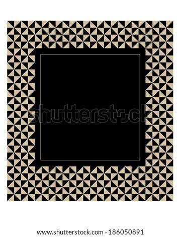 Funky and Stylish Vector Geometric Frame and Invitation Template - stock vector