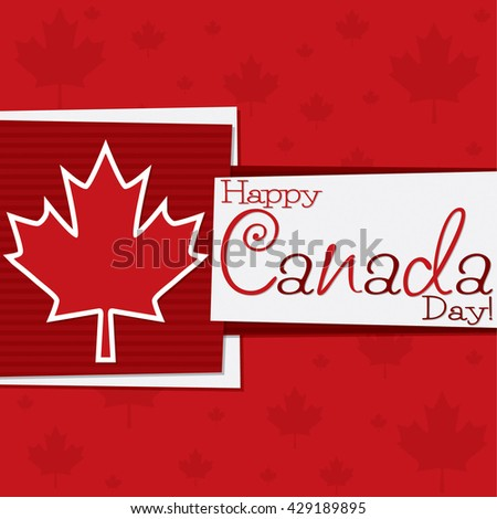 Funky Canada Day card in vector format. - stock vector
