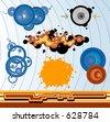 Funky design elements - stock vector