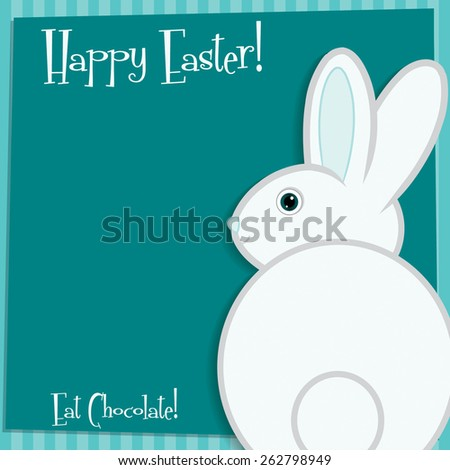 Funky Easter bunny card in vector format. - stock vector