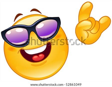 Funky emoticon - stock vector