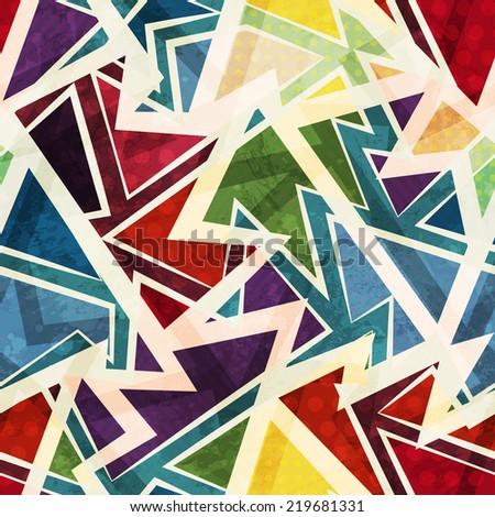 funky geometric seamless pattern - stock vector