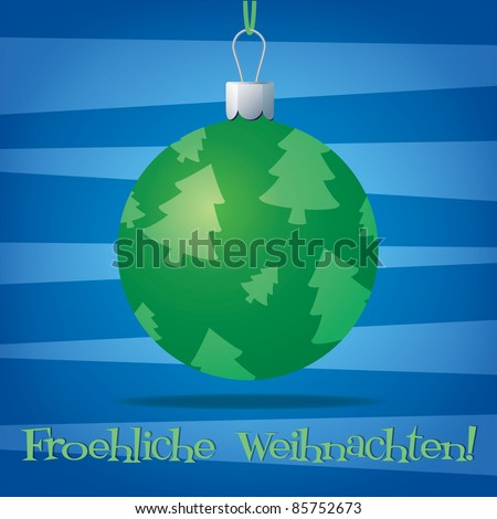 Funky German Christmas decoration card in vector format. - stock vector