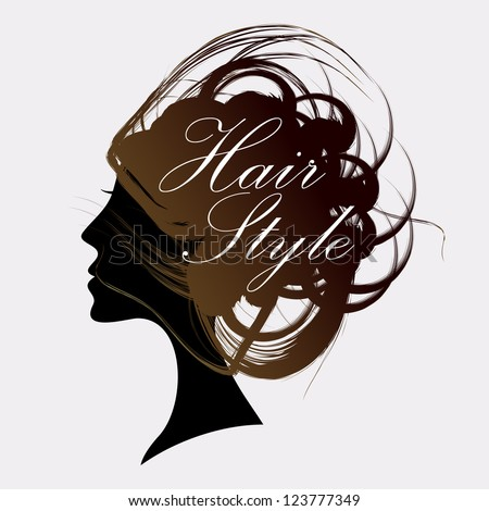 Funky hair salon design. - stock vector