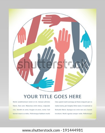 Funky hand pattern design with copy space.  - stock vector