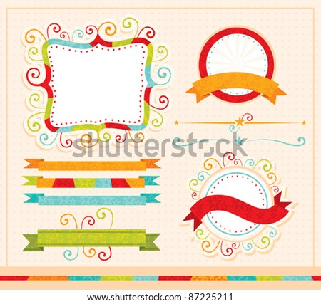 funky labels and design elements - stock vector