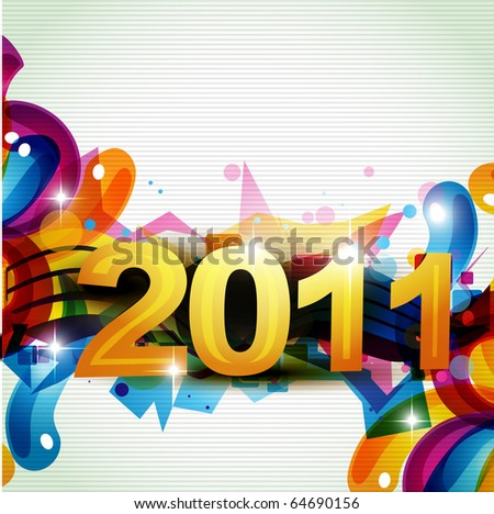 funky new year design artistic illustration