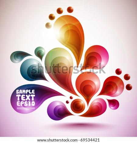 Funky Vector Graphic Design - stock vector