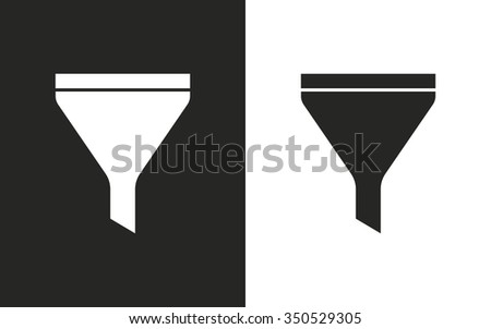 Funnel  -  black and white icons. Vector illustration