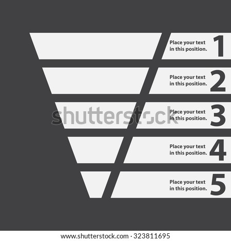 Funnel symbol. Business infographic and web design element. Template for marketing, conversion or sales. Vector illustration. - stock vector